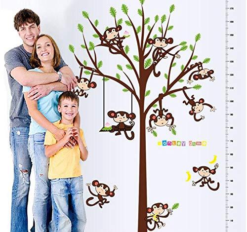 Hallobo® XXL wandtattoo kinderen hoogte meetlint tot 180 cm wandsticker kinderkamer wandsticker wandsticker kind jongen meisjes babykamer
