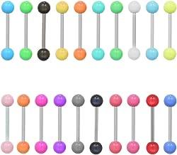 Lote De Trabajo 100 barras de LENGUA 1.6 mm s//Barras De Acero Surtido de estilos y colores.