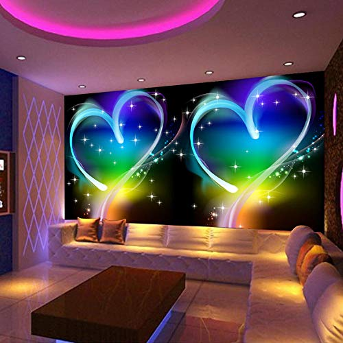Awttmua Carta Da Parati Murale 3D Modern Simple Personas Love Heart Dreamland Ktv Bar Sfondo Decorativo Foto Carta Da Parati Per Pareti 3D 350cmx256cm