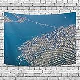 AEMAPE Tapiz de Dormitorio del Distrito financiero de San Francisco, Exclusivo Tapiz para Colgar en la Pared, tapices de Fondo Multiusos para Sala de Estar, Entrada y Cocina. 60x40 pulgadas-U33