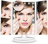 Lighted Makeup Mirror, 22 Led Vanity Mirror with Lights, 1X/2X/3X/10X Magnification, Touch Screen