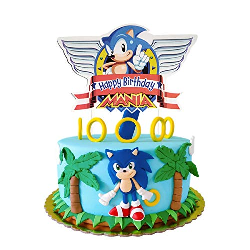 Sonic the Hedgehog Birthday Cake Toppers