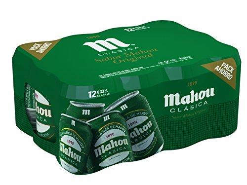 Mahou Clásica Cerveza Dorada Lager, 12 x 33cl