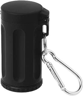 Xineker Portable Mini Cendrier De Poche Coupe-Vent Cas Porte-cl/és Fumeur Accessoire Pour La Plage En Plein Air Randonn/ée Publique Randonn/ée Camping P/êche Voyage