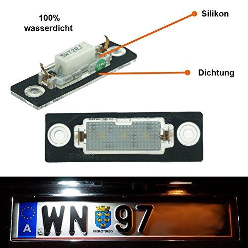 Do!LED WP4 LED Kennzeichenbeleuchtung mit E-Prüfzeichen - Neue Version mit Silikon & Dichtung => 100% wasserdicht