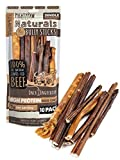 Mighty Paw Naturals Bully Sticks (5 Pack) | All-Natural Protein-Rich Dog Chews from Grass-Fed Beef. Single-Ingredient Odor Free Pet Treat for Dental Health. Keeps Chewers Busy