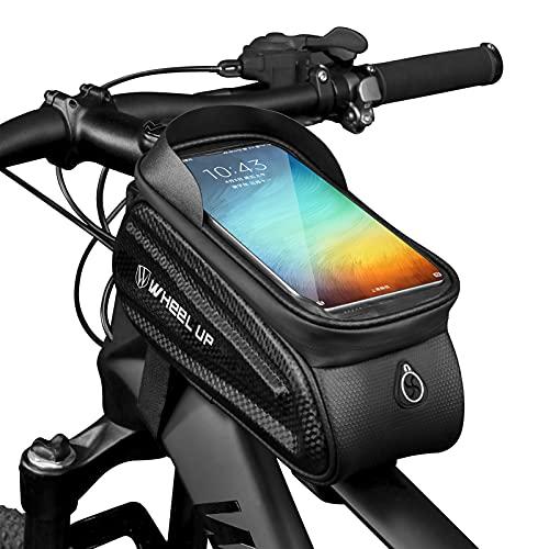 """Aceshop Borsa Telaio Bici Porta Cellulare, Impermeabile Manubrio per Borse Biciclette Touch Screen, Supporto Bici MTB, Accessori Bicicletta Bici da Corsa Ciclismo, Mountain Bike Portacellulare per 7"""""""