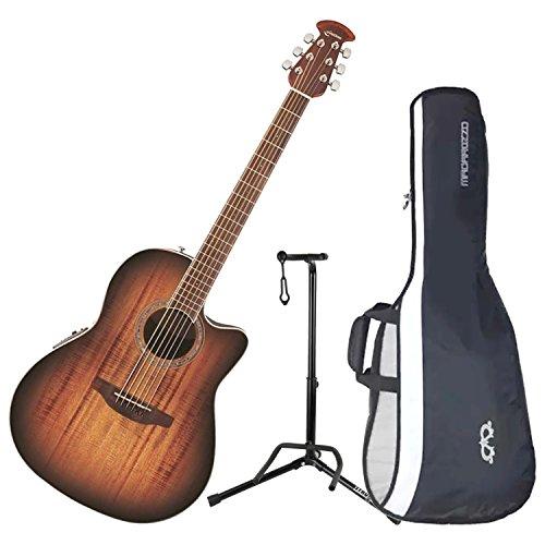 Ovation CS28P-KOAB Celebrity Plus Super Shallow Koa Burst A/E Guitar with Gig Ba