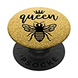 Queen Bee Quote Crown Graphic Mama B Honey Lover Cute Diva PopSockets PopGrip: Swappable Grip for Phones & Tablets