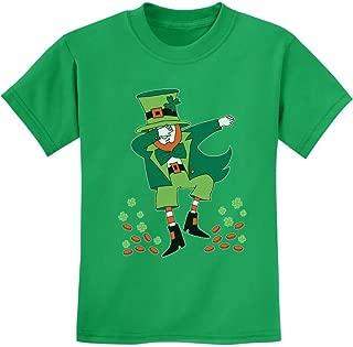 Tstars - St. Patrick's Day Clovers Dabbing Leprechaun Youth Kids T-Shirt