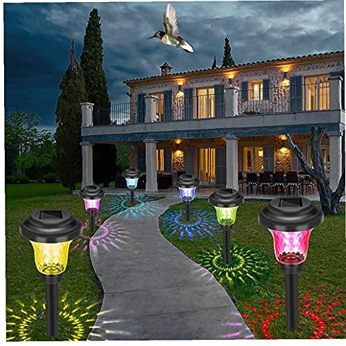 TongICheng LED Luces solares, Luces de Paisaje del jardín, a Prueba de Agua Pathway Aire Libre del césped de Tierra Luces, decoración del jardín, iluminación de Colores