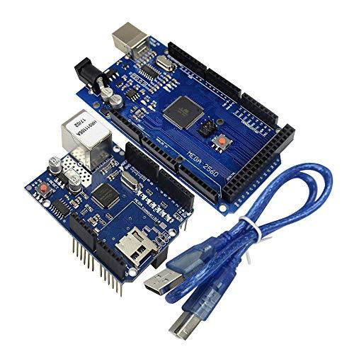 Thingnvation Mega 2560 Mega328 R3 AVR USB-kabel + W5100 R3 Ethernet LAN kaart UNO R3