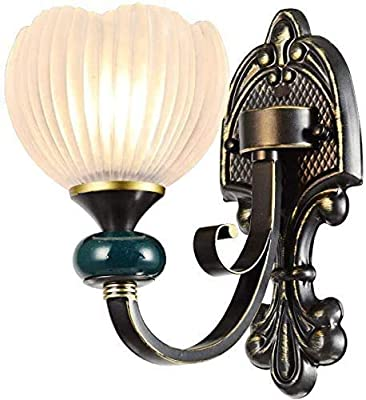 N / A Modern Classic Wall Sconces, Metal Wall Lighting Fixture with White Glass Shade, Europe Style Wall Sconce Wall Lamp for Bedroom Hallway Living Room,B,Colour:B (Color : A)