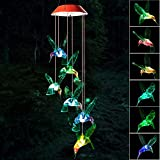 Wind Chime, Hummingbird Wind Chimes Outdoor,...