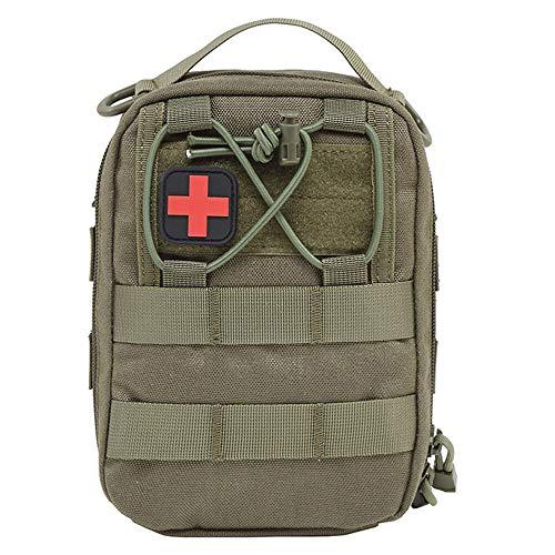 LANGYINH Medizinisch Erste-Hilfe-Kasten Taktisch Medizinisch Beutel Tasche Notfall Überleben Kit Militär Nützlichkeit Kit (Leere Tasche),3