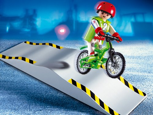 PLAYMOBIL® 4417 - Mountainbiker mit Wellenrampe