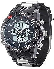 腕時計 メンズ 軍事腕時計 スポーツ アウトドア ミリタリー 多機能腕時計 デュアル アナデジ 男用時計