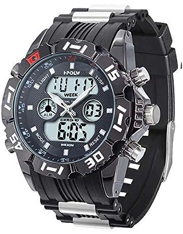 0b3f1c693c 腕時計 メンズ 軍事腕時計 スポーツ アウトドア ミリタリー 多機能腕時計 デュアル アナデジ 男用時計