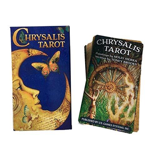 Soul hill 78 Blätter Tarot Karten: Chrysalis Tarot Brettspiele Karten zcaqtajro