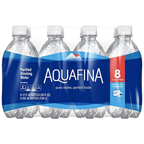 Aquafina Purified Drinking Water (8 Count, 12 Fl Oz Each)