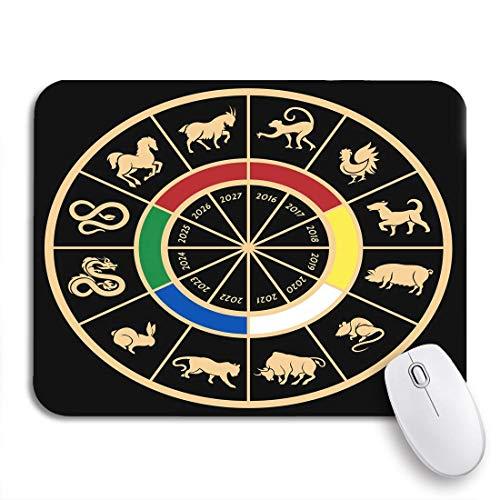 Gaming mouse pad chinesische jahre sternzeichen kalender tier zeichen ratte schlange drache rutschfeste gummi backing computer mousepad für notebooks maus matten