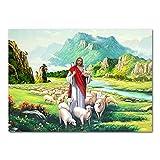 Der Gute Hirte Jesus Christus Heiliges Lamm Bild Leinwand