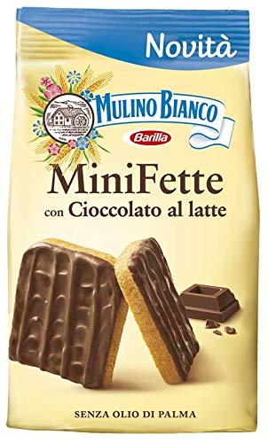 Mulino Bianco Mini Fette con Cioccolato al latte Zwieback mit Milchschokolade Kekse gebackenem brot biscuits 110g ohne Palmöl