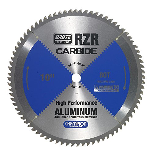 Champion Cutting Tool Corp Circular Saw Blade 10', 80T (RZR-10-80-NF)-Cut Aluminum