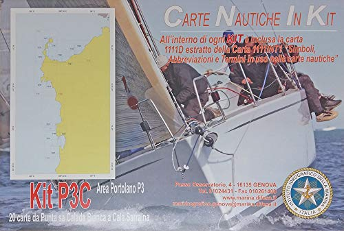 Istituto Idrografico della Marina Carte NAUTICHE Mar MEDITERRANEO Sardegna Ovest. Kit P3C. 20 Carte Punta SA CALADA Bianca A Cala SARRAINA.
