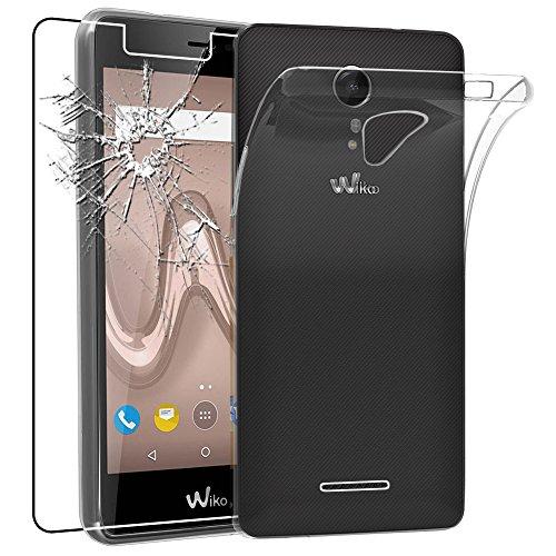 ebestStar - Wiko Tommy 2 Hülle Handyhülle [Ultra Dünn], Premium Durchsichtige Klar TPU Schutzhülle, Soft Flex Silikon, Transparent + Panzerglas Schutzfolie [Phone: 145 x 72.7 x 9.19mm, 5.0'']