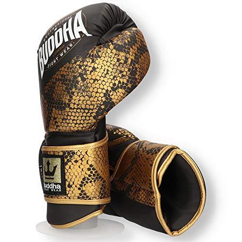 Buddha Fight Wear Guantes de Boxeo Combo Golden 14 Onz