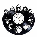 Reloj de vinilo inspirado en Juego de Tronos, colección vintage
