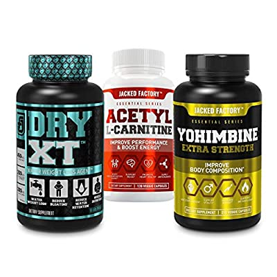 Dry-XT Water Weight Loss Diuretic Pills, Acetyl L Carnitine Supplement, Yohimbine Extra Strength