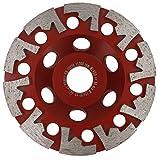 PRODIAMANT - Disco abrasivo diamantato per cemento e piastrelle, 125 mm x 22 mm, platorello ottimizzato per l'aspirazione