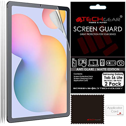 TECHGEAR 2 Pack Galaxy Tab S6 Lite 10.4' Anti Glare Screen Protectors (SM-P610 / SM-P615), MATTE Screen Protector Guard Cover Designed for Samsung Galaxy Tab S6 Lite 10.4'