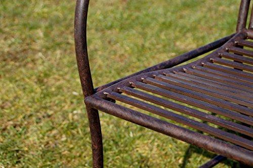 Exklusive Gartenbank Cielo, ergonomische Sitzfläche, Sitzbank in neuem Design und sehr stabiler Metallausführung - 6