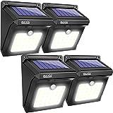 BAXiA Solarleuchte für Außen, Solarlampen mit Bewegungsmelder Wasserdichte Solarleuchten Aussenbeleuchtung LED Sicherheitslicht Solarlicht für Gärten, Türe, Flur, Wege, Terrassen -28LED, 4-Stück