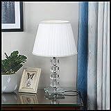 YYF Mode Kristall Tischlampe - Schlafzimmer Nachttischlampe - Wohnzimmer warm romantisch - blaue Hochzeitsidee (Durchmesser 11,8 Zoll) (Color : B)