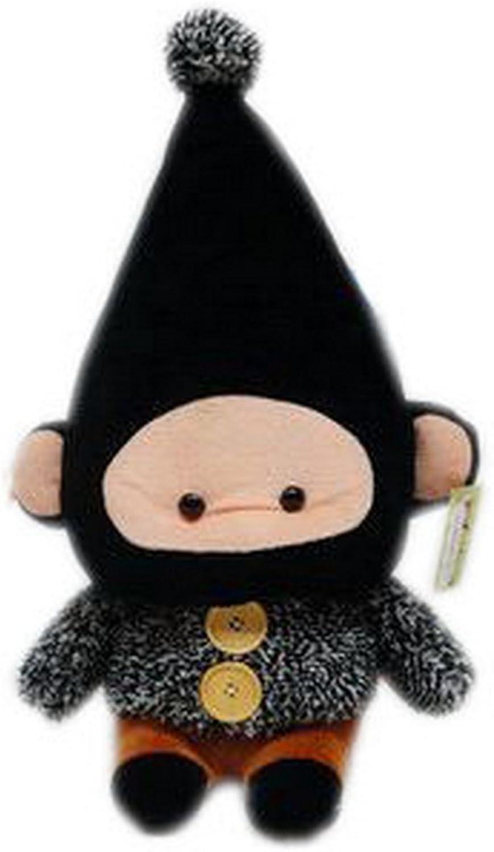 Monkey DODO Plush Toy 42CM Stuffed Toy Gift for Kids, BLACK