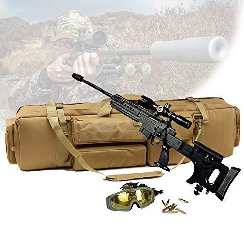 TBDLG Funda para Armas Largas, Gun Rifle Bolsa con Capacidad para Dos Rifles, Bastón Mágico Base Fijo, Bolsa de Almacenamiento de Rifle para Escalada, Pesca, Camping, Caza,Caqui