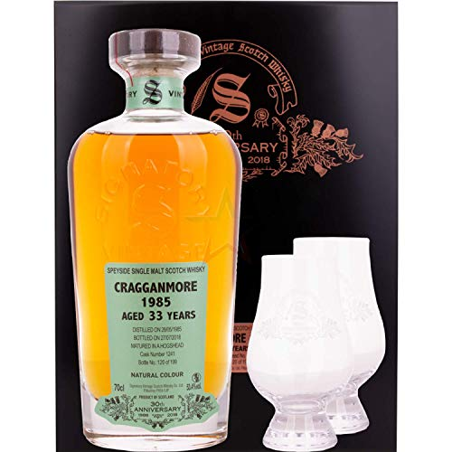 Cragganmore 1985 33 Years Hogshead Cask No. 1241 Speyside Single Malt Scotch Whisky Cask Strength 53,4% Vol. aus der Signatory 30th Limited Anniversary Collection