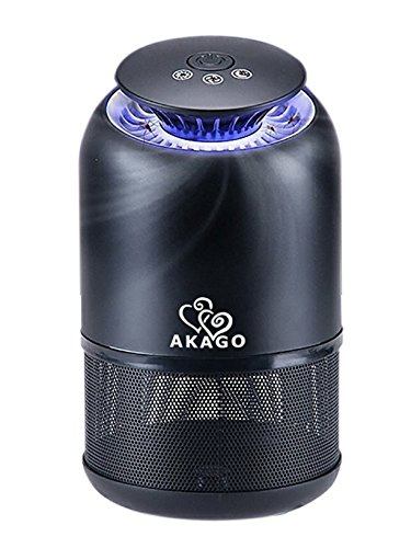 AKAGO Indoor UV Light and Suction Fan Mosquito Trap Non-toxic Non-Chemical Insect Killer 645 sq ft