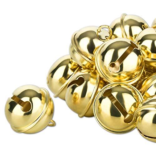 Kleenes Traumhandel 50 Glöckchen - ca. 20 mm (Golden)