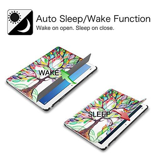 Fintie Huawei Mediapad M3 Lite 10 Hülle - Ultra Dünn Superleicht SlimShell Case Cover Schutzhülle Etui Tasche mit Zwei Einstellbarem Standfunktion für Huawei Mediapad M3 Lite 10 Zoll, Liebesbaum - 3