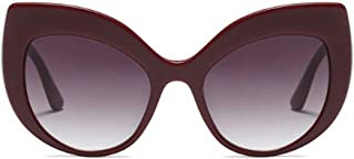 LUKEEXIN Classic Oversized Cat Eyes Sunglasses for Women UV Protection for Driving Vacation (Color : Red)
