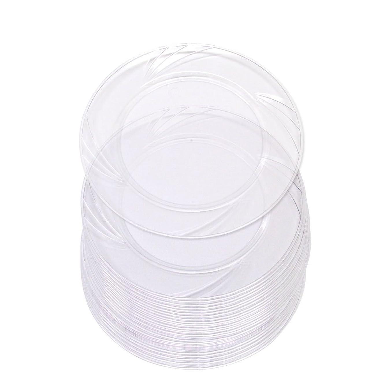 慎重に咽頭高品質透明プラスチック製6インチ丸皿 30枚 硬質プラスチック製使い捨てデザート/前菜用6インチパーティー皿