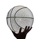 LDLXDR Balones de Baloncesto- Baloncesto Reflectante n. ° 7, Baloncesto de Adultos Luminoso Luminoso PU Que Absorbe la Humedad,NO-7