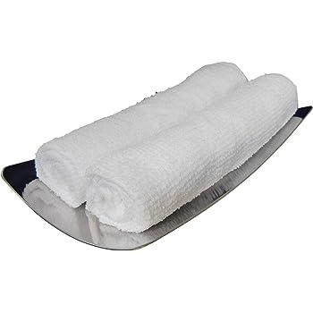 おしぼり 業務用 おしぼりタオル ハンドタオル 白 80匁 綿100% 平織り 1枚