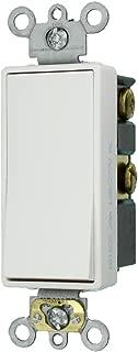 Leviton 5624-2W 20-Amp 120/277-Volt Decora Plus Rocker 4-Way AC Quiet Switch, White