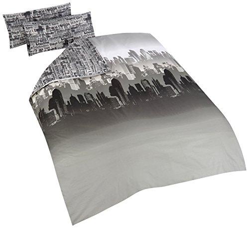 Catherine Lansfield Cityscape, Gris, 240 x 220 cm + 50 x 85 x 2 cm